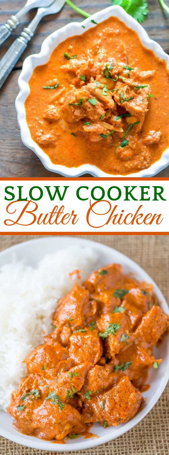 SLOW COOKER INDIAN BUTTER CHICKEN #dinner #indianfood