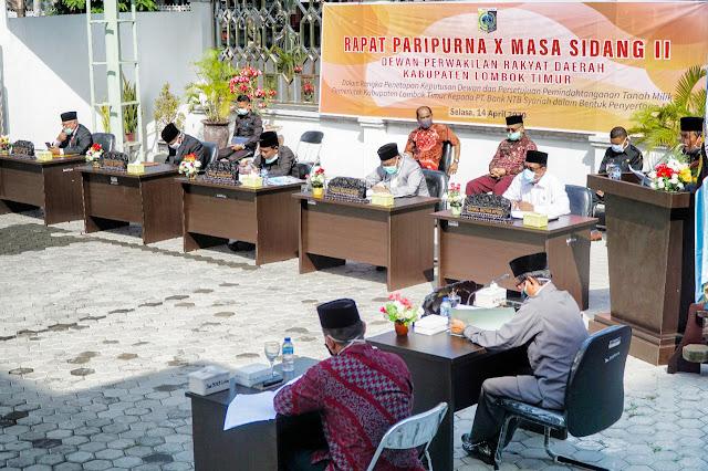 DPRD Lombok Timur Sampaikan Sejumlah Rekomendasi atas LKPJ Bupati Tahun 2019