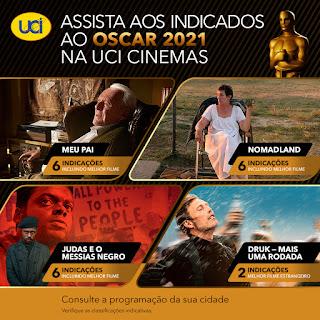 Rede UCI exibe quatro filmes que estão concorrendo ao Oscar 2021