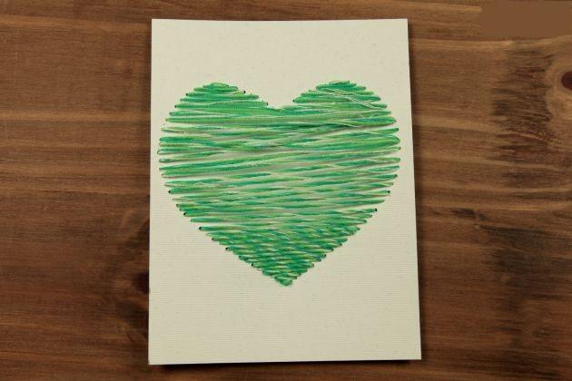 Tarjeta Bordada Manualidades Para San Valentin Un Mundo De