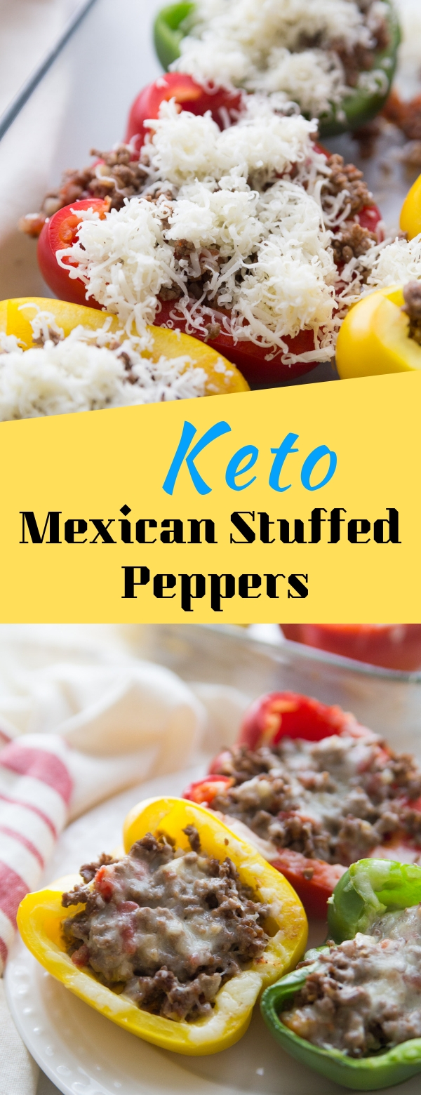 Keto Mexican Stuffed Peppers #keto