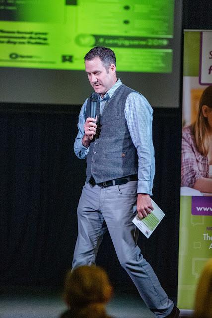 John Hicks delivering a parenting dyslexia talk.