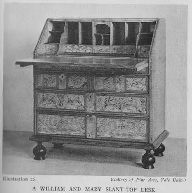 William & Mary Slant Top Desk