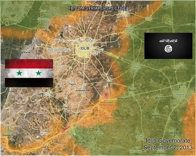 Idlib Syria Updated Strategic Battle Map