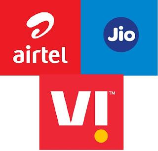 JIo vs Airtel vs VI comparison list 2021
