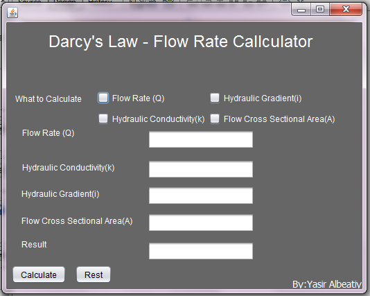 Flow Rate Calculator - Darcy's Law