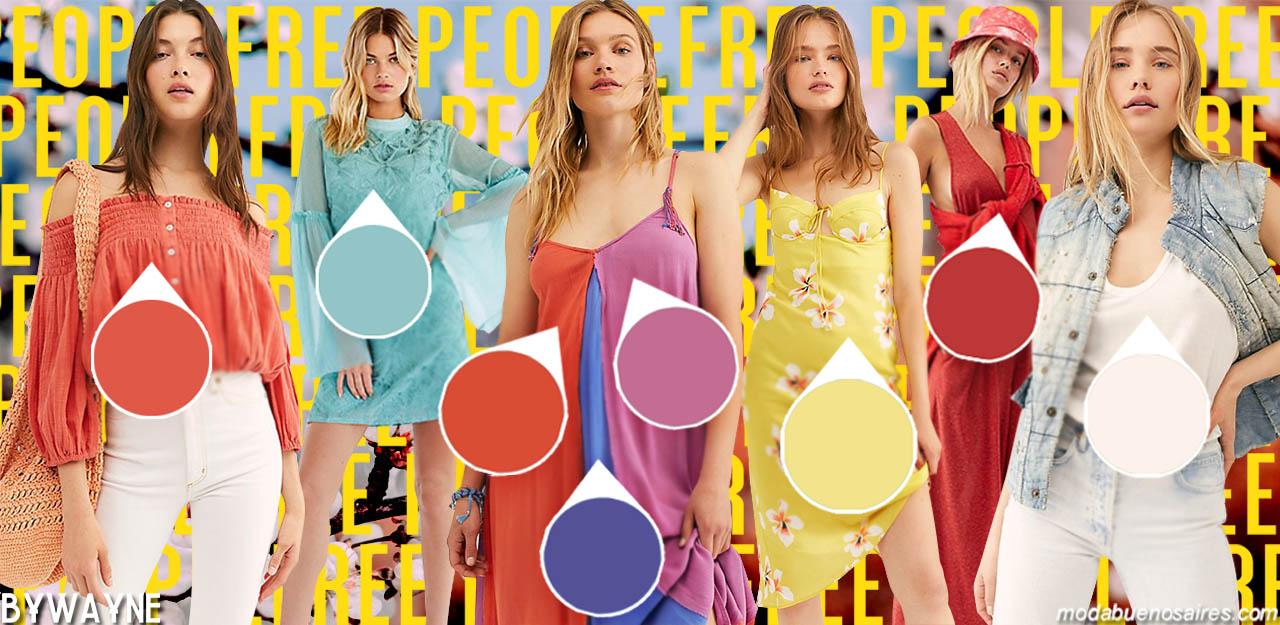 Moda 2020 │Colores de moda primavera verano 2020. Esta es la paleta de colores que propone la primavera verano de Free People.