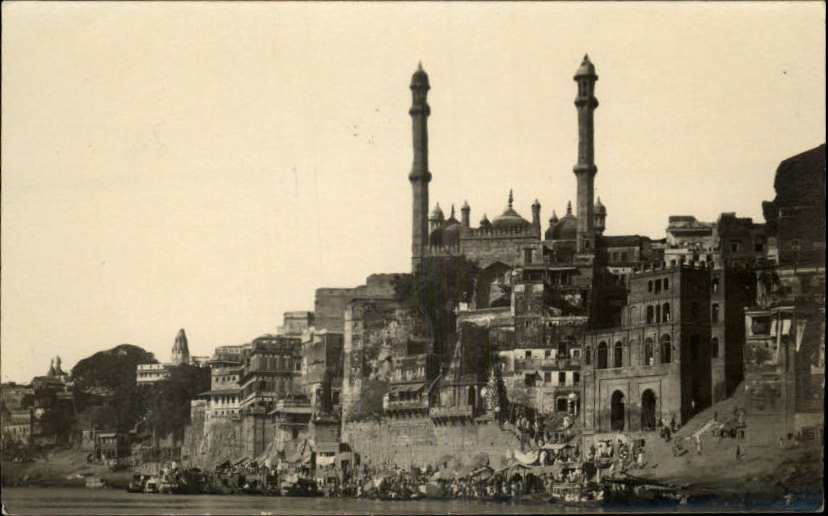 Alamgir Mosque and Ghat in Varanasi (Benares) - c1910