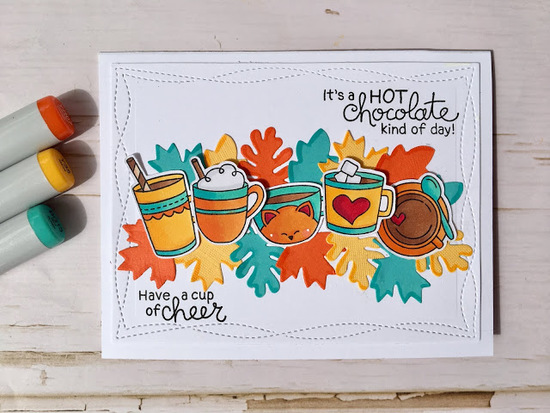 Have a cup of cheer by Meghan K. features Cup of Cocoa by Newton's Nook Designs; #newtonsnook