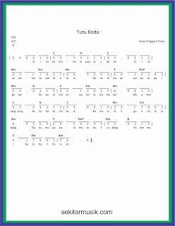 not angka tutu koda lagu daerah nusa tenggara timur