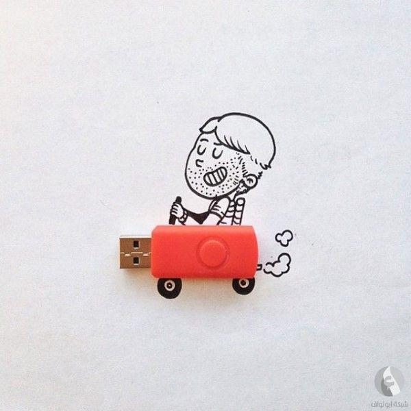 سائق اليوإسبي usb رسم - ابتكارات غريبة وأفكار عجيبة يمكنك فعل مثلها