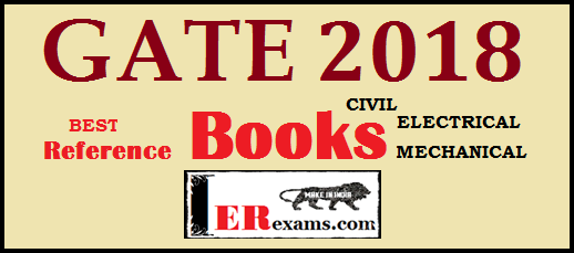 Gate 2018 Top Reference  Books For Electrical, mechanical, civil