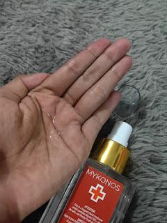 Review Hand Sanitizer Spray MyKonos