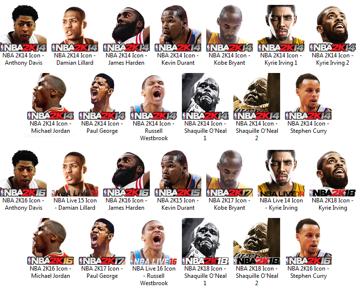 47afb1d82ec5 NBA 2K18 Icons for NBA 2K14