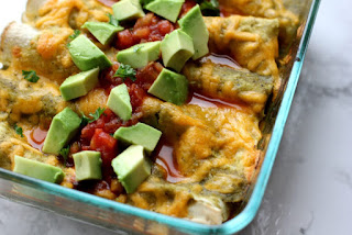 Preparation method Blackberry-Tofu-Enchiladas