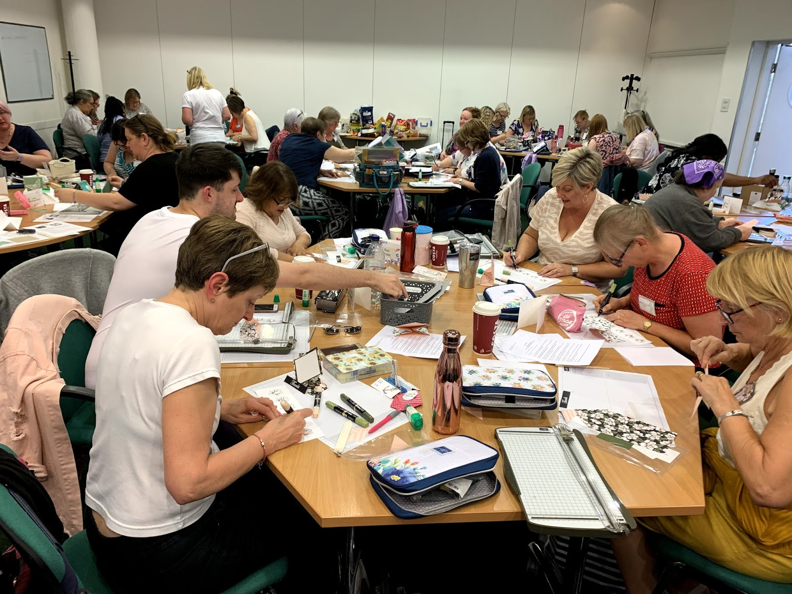 Stampin Up team event, this photo is of a big group of demonstrators all crafting together