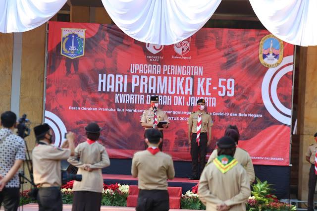 Hari Pramuka, Anies Berpesan Pramuka Jakarta Bantu Warga Lewati Masa Pandemi