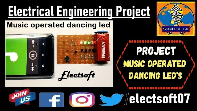 Music Operated Dancing LED's Using BC547 Transistor