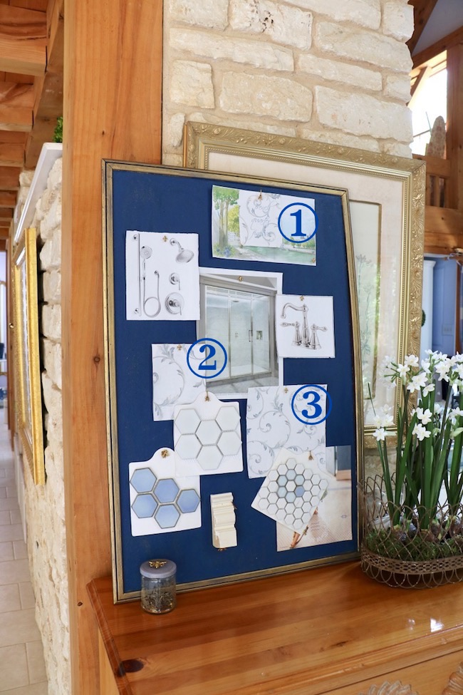 Bulletin Board Inspiration for a French Finesse Bathroom Update