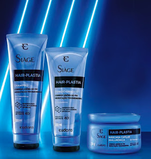 Siage Hair Plastia Eudora  Shampoo, Condicionador e Mascara de Tratamento resenha dicas da tia