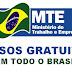 MINISTÉRIO DO TRABALHO OFERECE CURSOS GRATUITOS