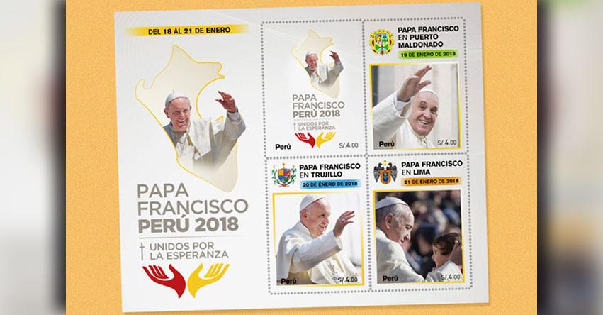PAPA FRANCISCO EN PERÚ: Conoce la postal oficial y estampilla por visita del santo padre - www.papafranciscoenperu.org