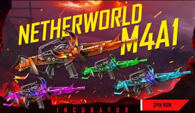 How do we get a new Netherworld M4A1 incubator in Free Fire for free