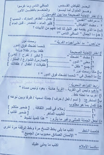"""تجميع امتحانات   للصف الرابع الإبتدائى """"الفعلى """" لغة عربية  إدارات ترم أول لتدريب عليها 81705010_2629820430583288_2232504050337710080_n"""