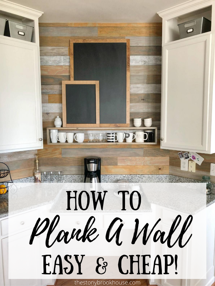 How To Plank A Wall Easy And Cheap