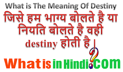 What is the meaning of Destiny in Hindi