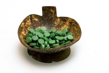 Chlorella en pastillas