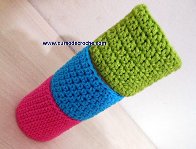 Como fazer o Crochê - Aula para iniciantes destros e canhotos no blog aprender croche no curso de croche com edinir croche