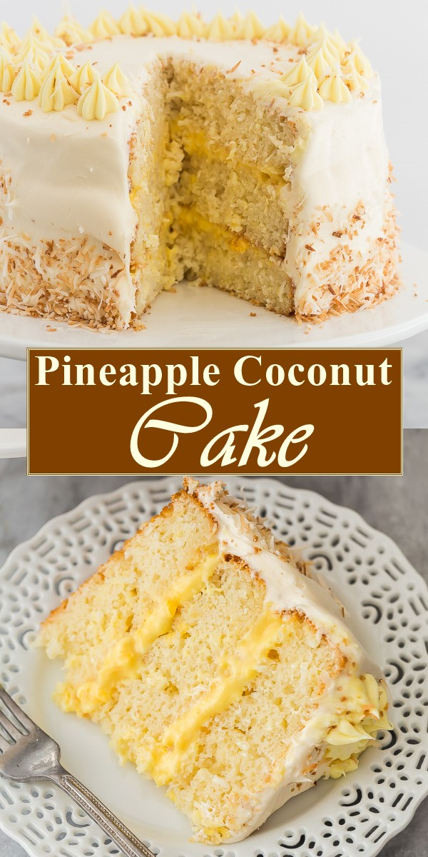 Pineapple Coconut Cake #cakerecipes