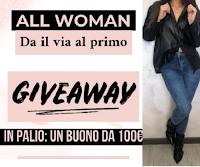 Vinci gratis buono shopping da 100 euro All Woman Abbigliamento