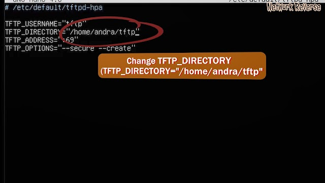 How to configure tftpd-hpa to change TFTP Server directory