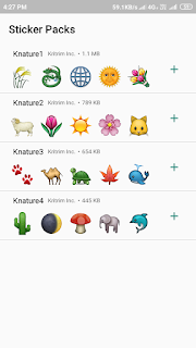 Stickers for whatsapp nature Ads free mod