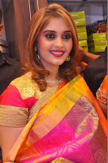 Surabhi looks stunning in Saree at Nakshatra Fashion Store Launch at Suchitra X Road 21.JPG