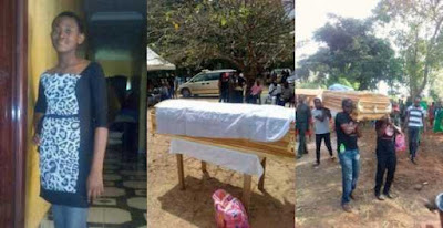 Sad: Tears As 13-Year-Old Ochanya (Allegedly Raped By A Plytechnic Lecturer) Is Buried (See Photos & Details)