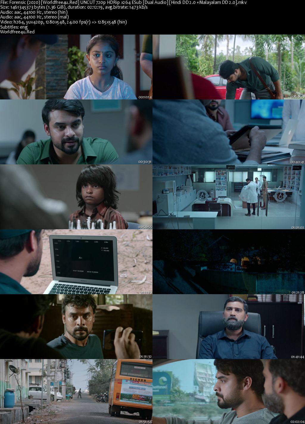 Forensic 2020 Hindi Dubbed HDRip 720p
