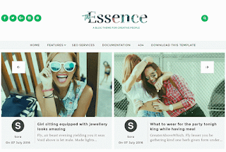The Essence Blogger Templates with slider