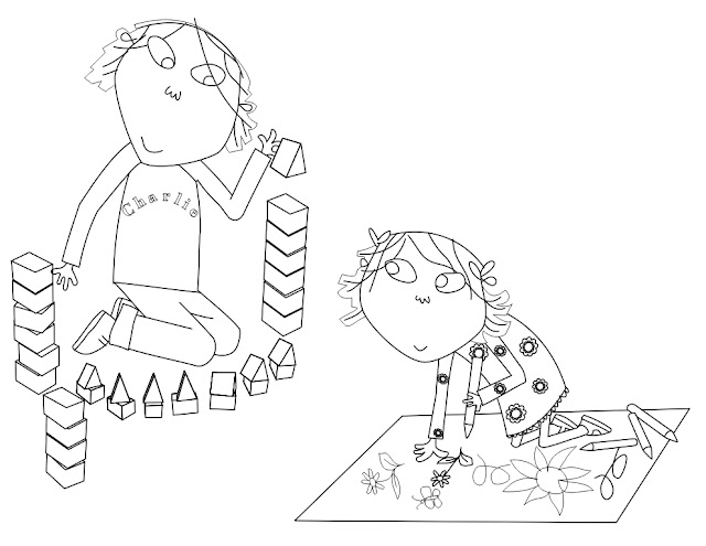 coloring pages to print charlie and lola | Charlie and Lola: Creative Time Coloring Page
