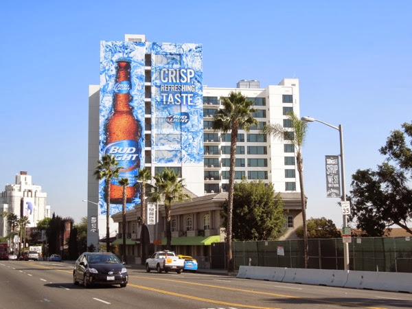 Giant Bud Light billboard Sunset Strip