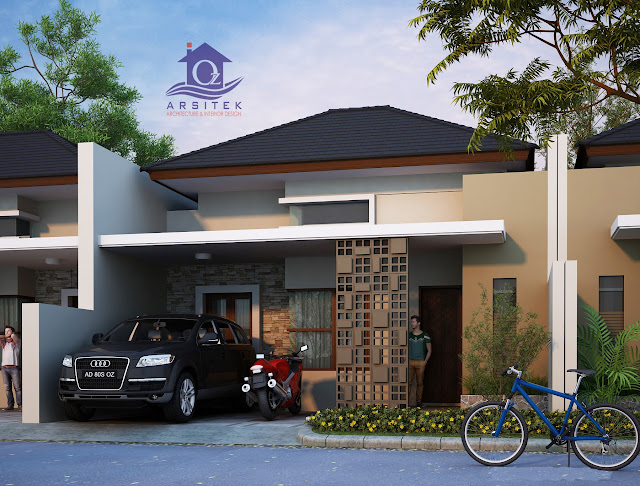 Desain Eksterior Honje Asri Residence di Kartasura
