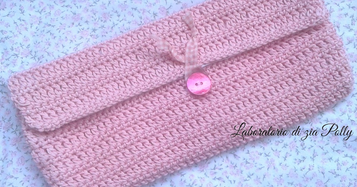 ♥ Pochette a crochet porta foulard ♥