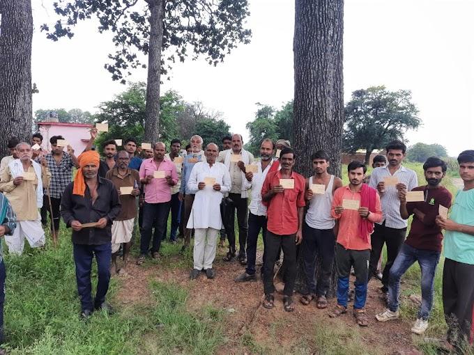 MP News-Chhatarpur-रोजगार और विकास के लिये चला बक्सवाहा  में पोस्टकार्ड अभियान
