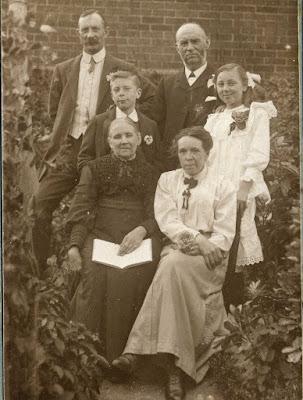 Family group taken in garden