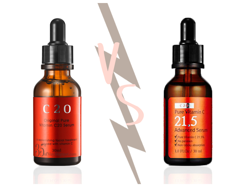 C20 vs C21.5 aka The Battle of the Vitamin C Serums