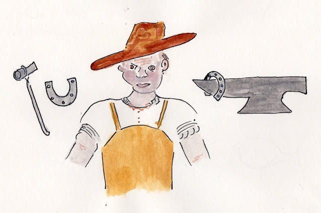 old blacksmith bert marsden as i could picture him from the 50s 60s we did not have any photos for the blog and though maybe this would suffice till we
