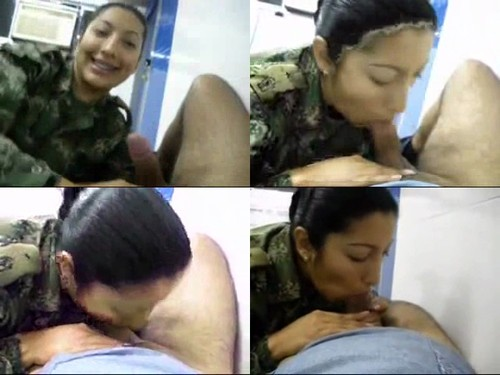 Female soldier blowjob