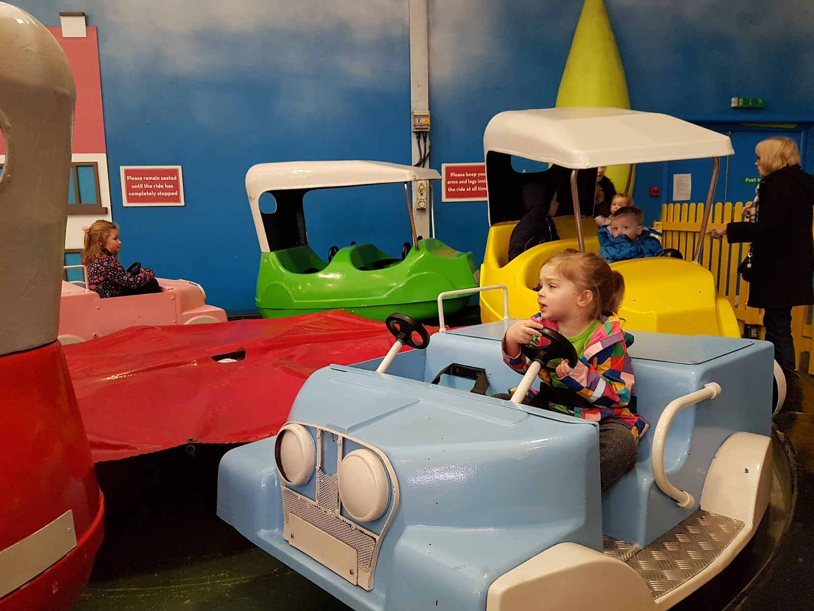 child riding a car at butlins minehead
